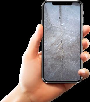 Фото трещины на мраморе